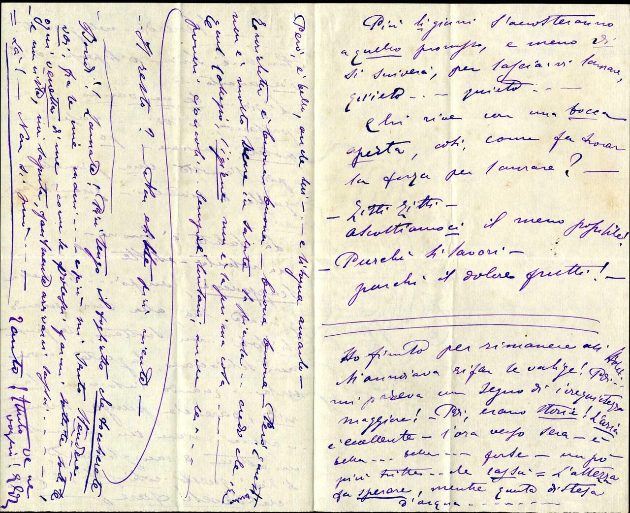 Fig. 2 Lettera di Eleonora Duse ad Arrigo Boito, 23 agosto 1889, Archivio Duse, Istituto per il Teatro e il Melodramma, Fondazione Giorgio Cini, Venezia