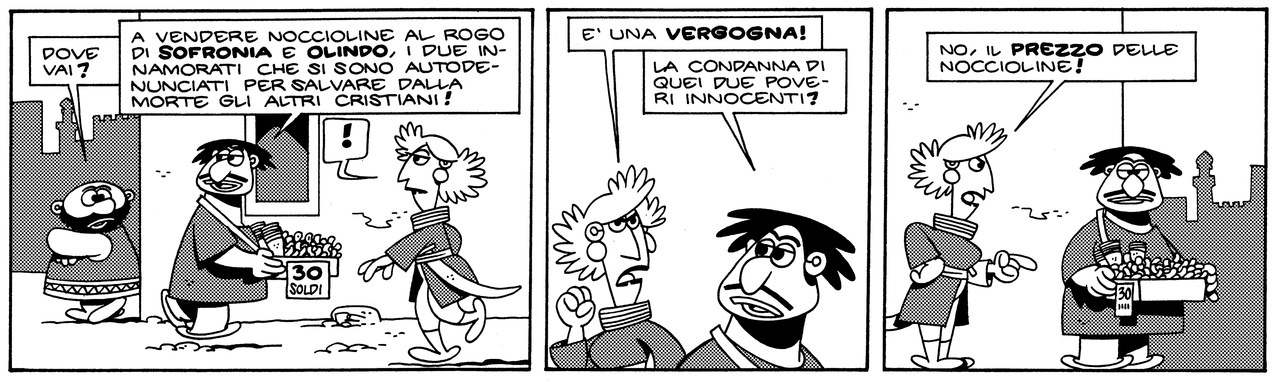 Marcello Toninelli, Il rogo di Olindo e Sofronia, 2010 [2004], p. 13 [World © Marcello/per l'Italia Cartoon Club Editore 2010]
