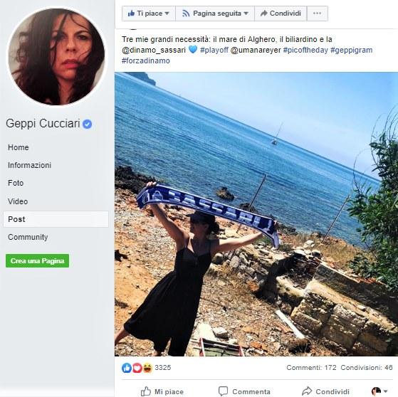 Fig. 7 Il mare di Alghero e la Dinamo Sassari: due delle tre«grandi necessità»di Geppi Cucciari