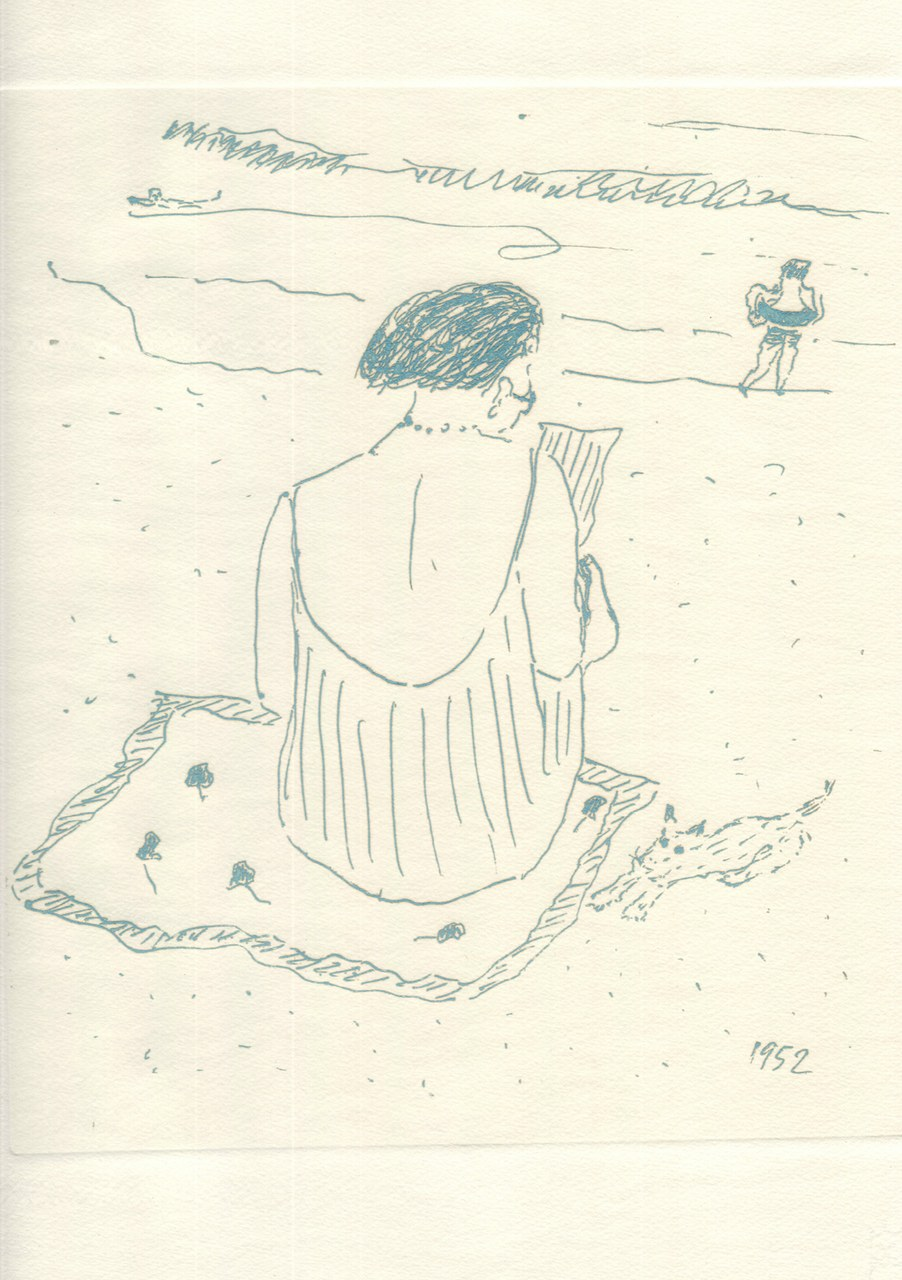 Disegno di Montale trasposto all'acquaforte nel 1976