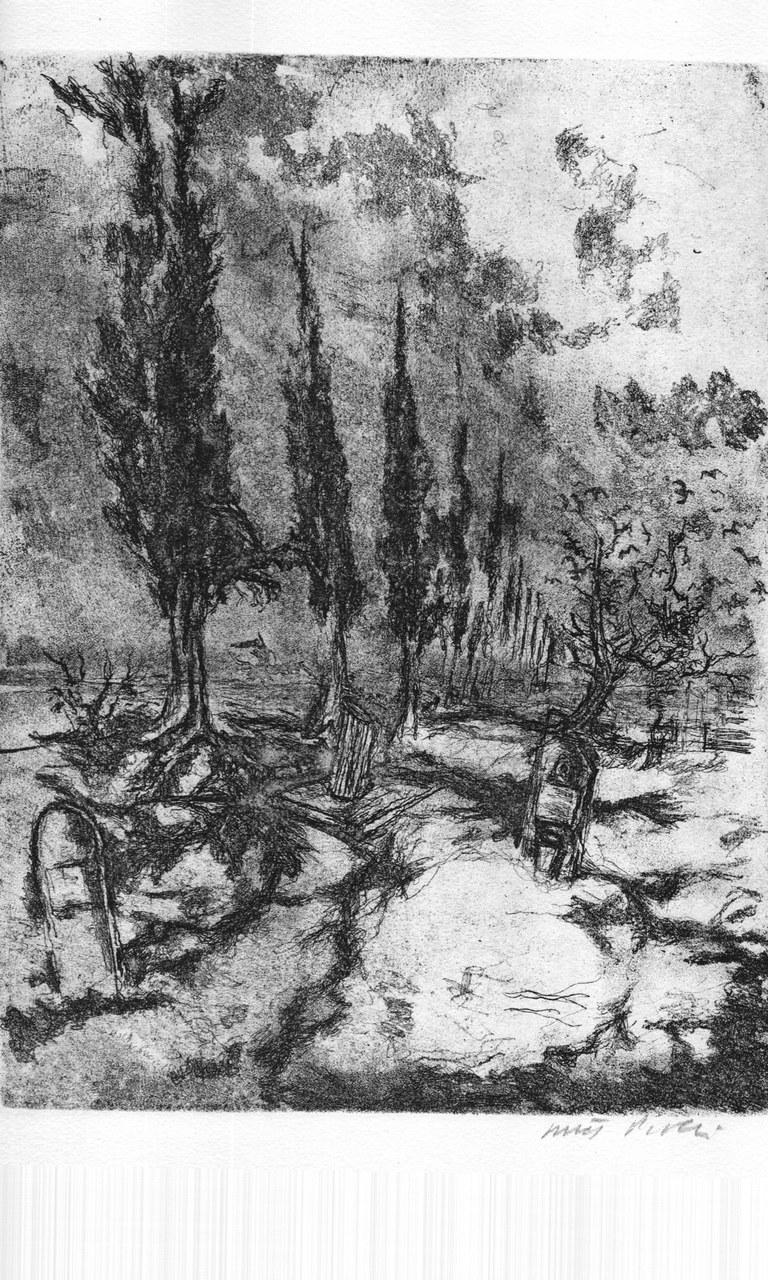 Acquaforte di Walter Piacesi per Foscolo, 1978 b