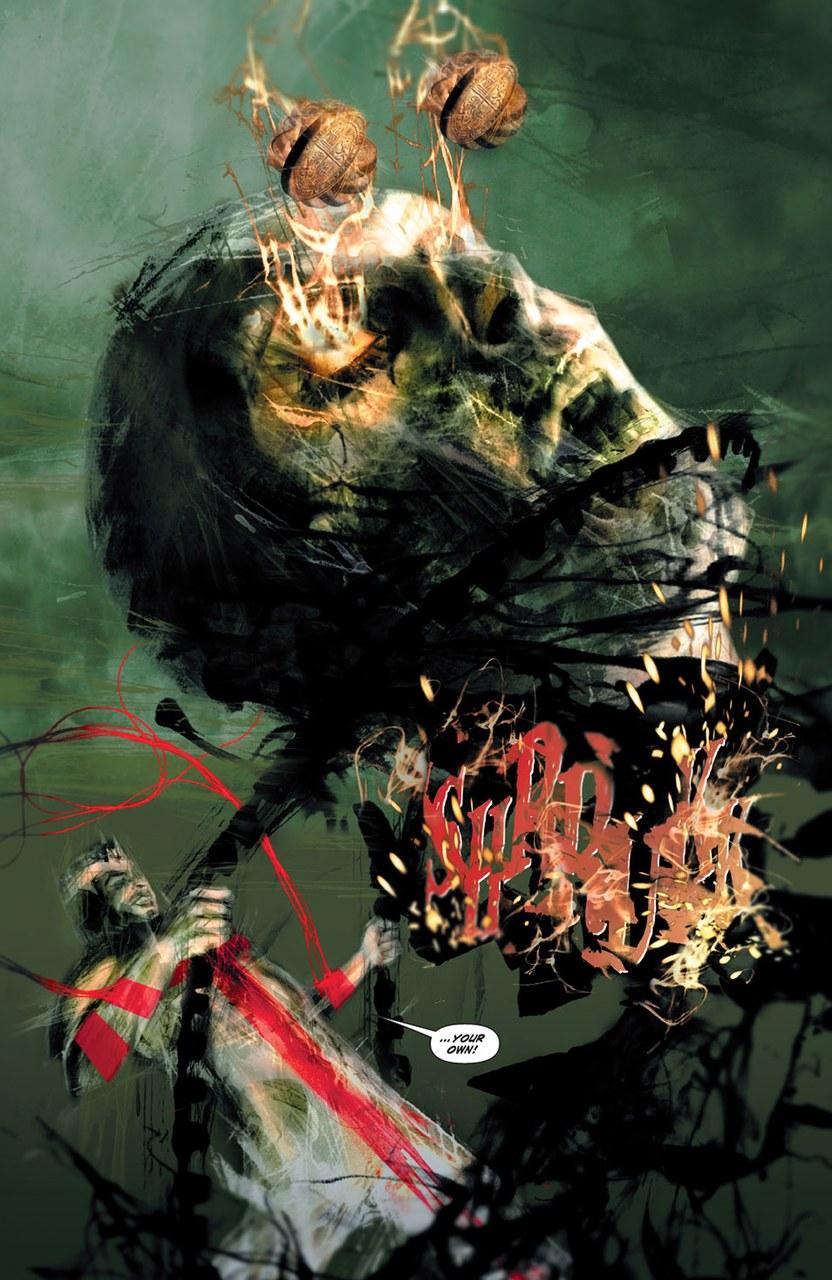 Christos Gage,Diego Latorre,Dante combatte contro un'anima dannata, 2010, tav. 38
