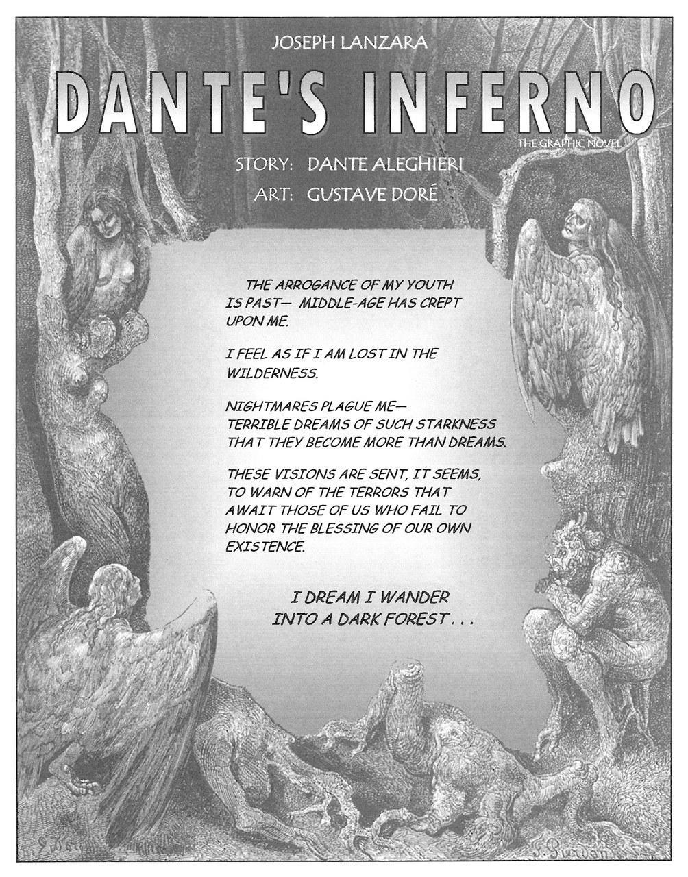 Joseph Lanzara,Frontespizio di Dante's Inferno, 2012