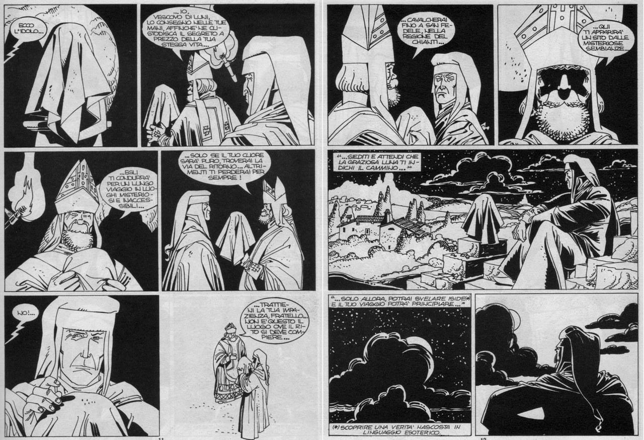 Stefano Santarelli, Rodolfo Torti, Dante riceve l'idolo dal vescovo di Luni, in Diavoli dell'Inferno!, 1994, pp. 11-12