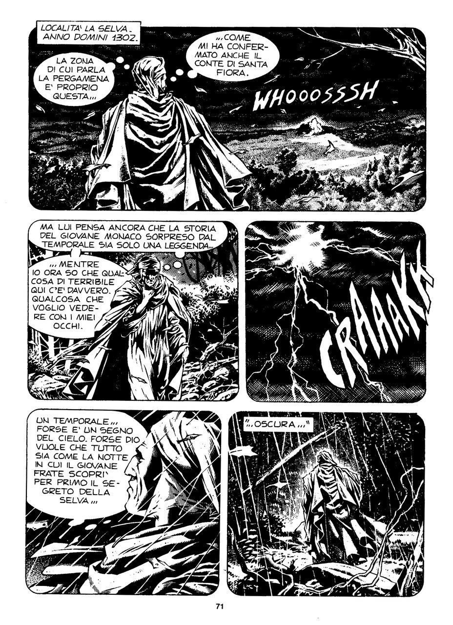Ade Capone, Fabio Bartolini e Alessandro Bocci, Dante giunge nella selva oscura, in Discesa all'Inferno, 2000, p. 71