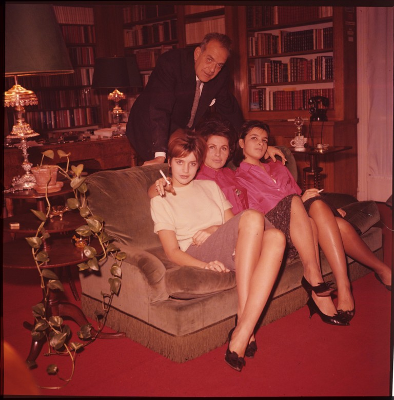 Fig. 3 Catherine insieme al padre Charles, alla madre Claudie e alla sorella Agnès, 1960, © Museo nazionale del cinema-Torino; Centro sperimentale di cinematografia, Cineteca nazionale – Roma