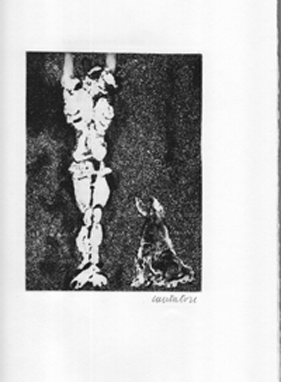 Acquaforte di Domenico Cantatore per Quasimodo, 1963 a
