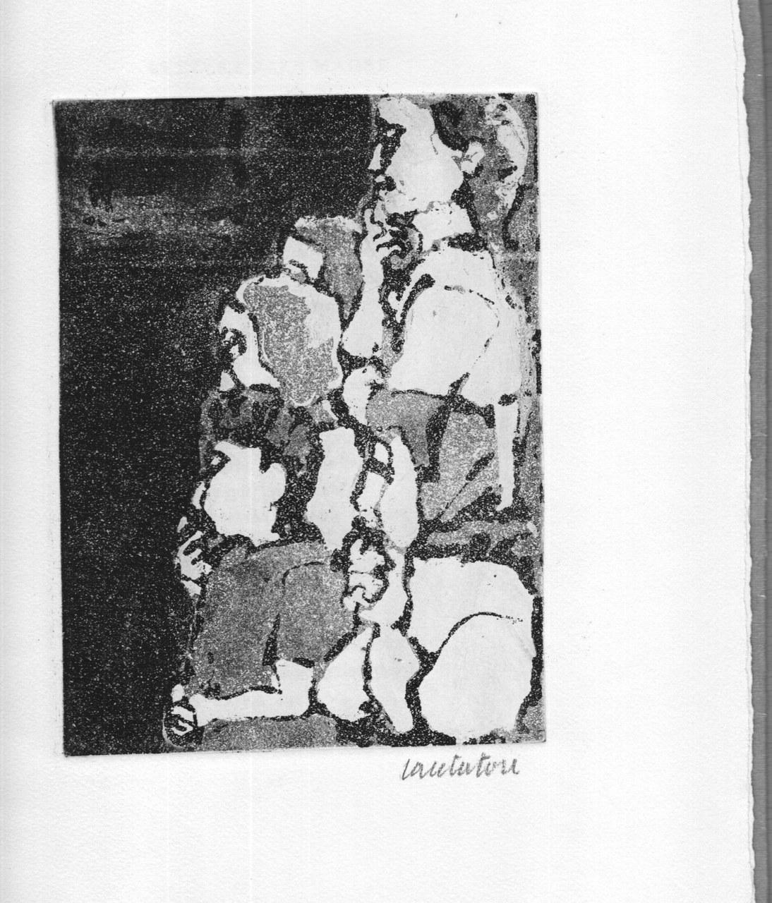 Acquaforte di Domenico Cantatore per Quasimodo, 1963 b