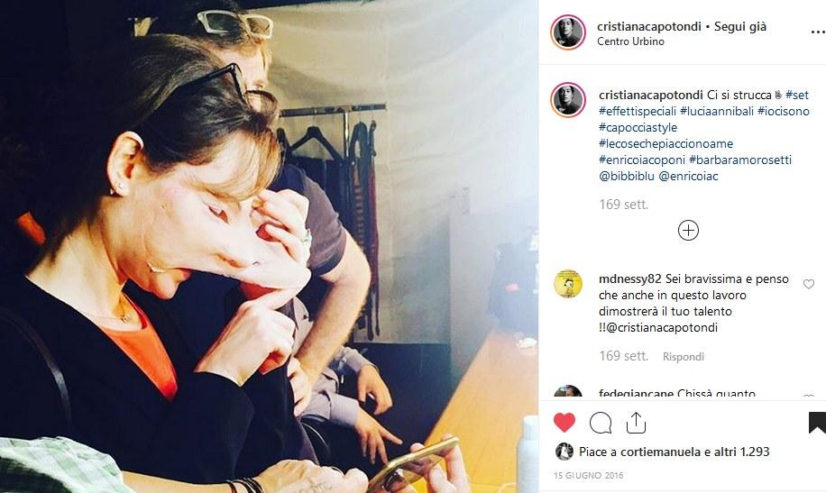 Fig. 1 Pagina Instagram di Cristiana Capotondi