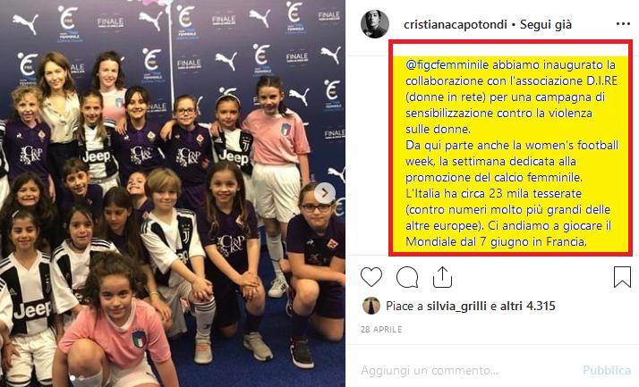Fig. 3Pagina Instagram di Cristiana Capotondi