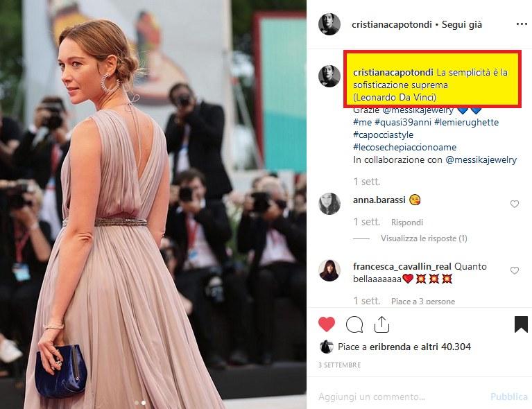 Fig. 8Pagina Instagram di Cristiana Capotondi