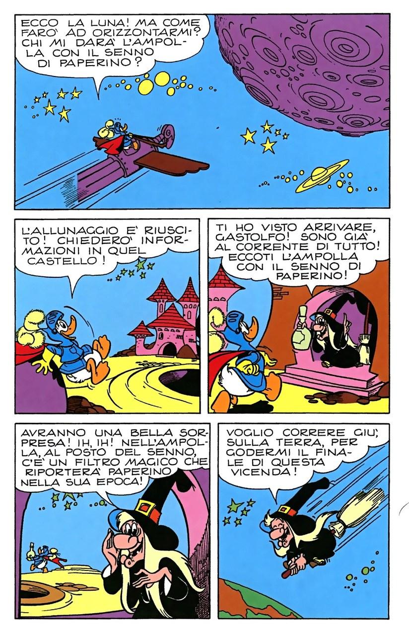 Luciano Bottaro,Il volo di Gastone sull'ippogrifo a razzo, china su carta e colore, 1966,tav. 61