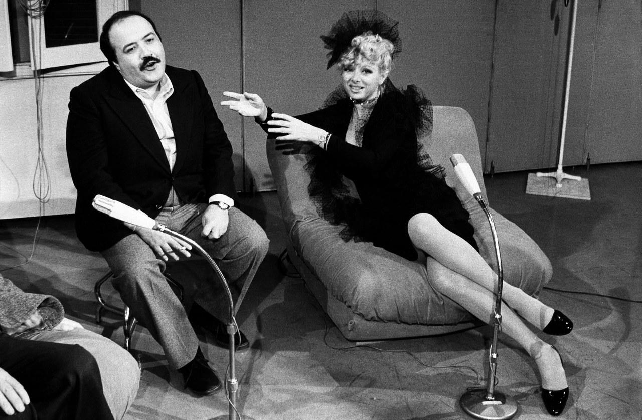 Fig. 6 Sandra Milo e Maurizio Costanzo nel talk-show Bontà loro