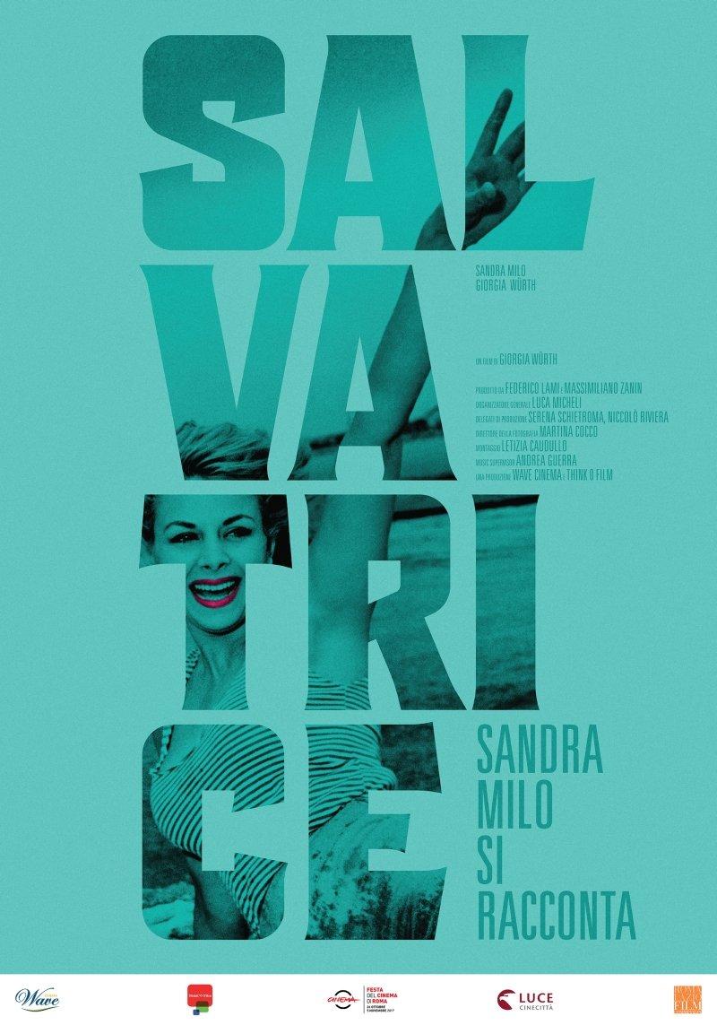 Fig. 8 Manifesto del documentario Salvatrice- Sandra Milo si racconta, girato da Giorgia Wurth nel 2018