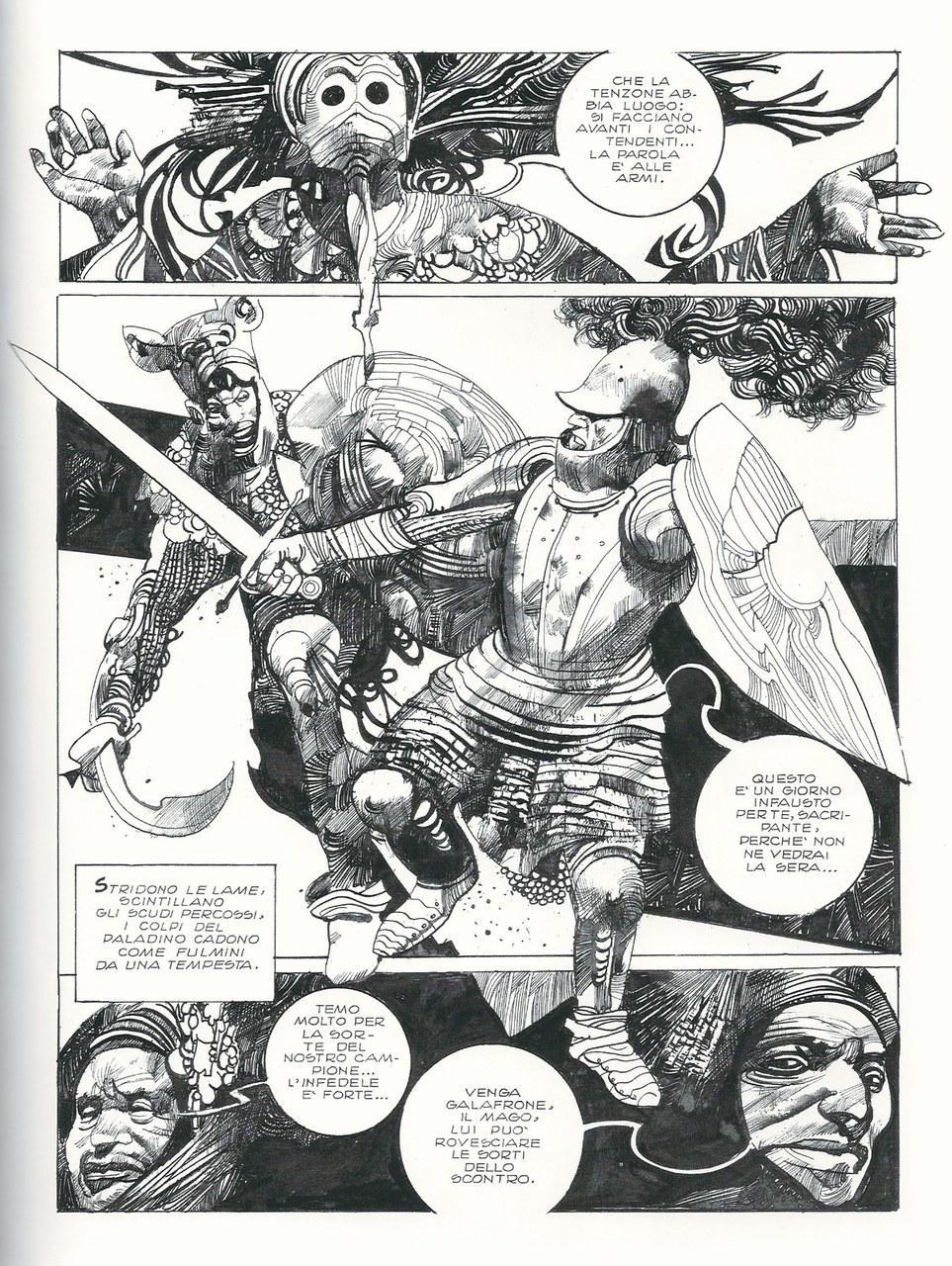 Sergio Toppi,Arti magiche e combattimento, china su carta, 1986, p. 119 [© Eredi Toppi]