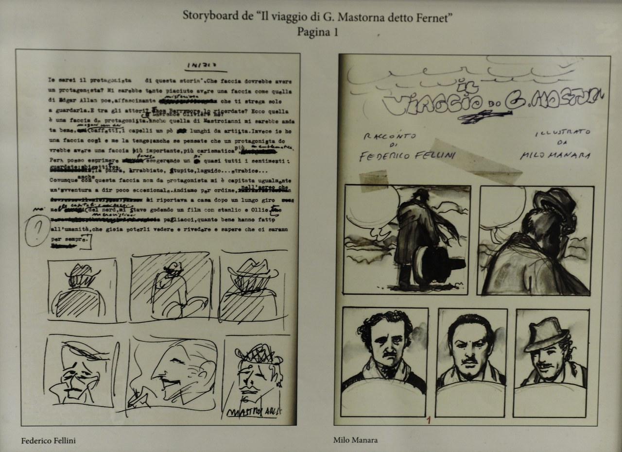 Il viaggio di G. Mastorna detto Fernet - Racconto di Federico Fellini, china e ecoline 1992 ©Salvo Grasso