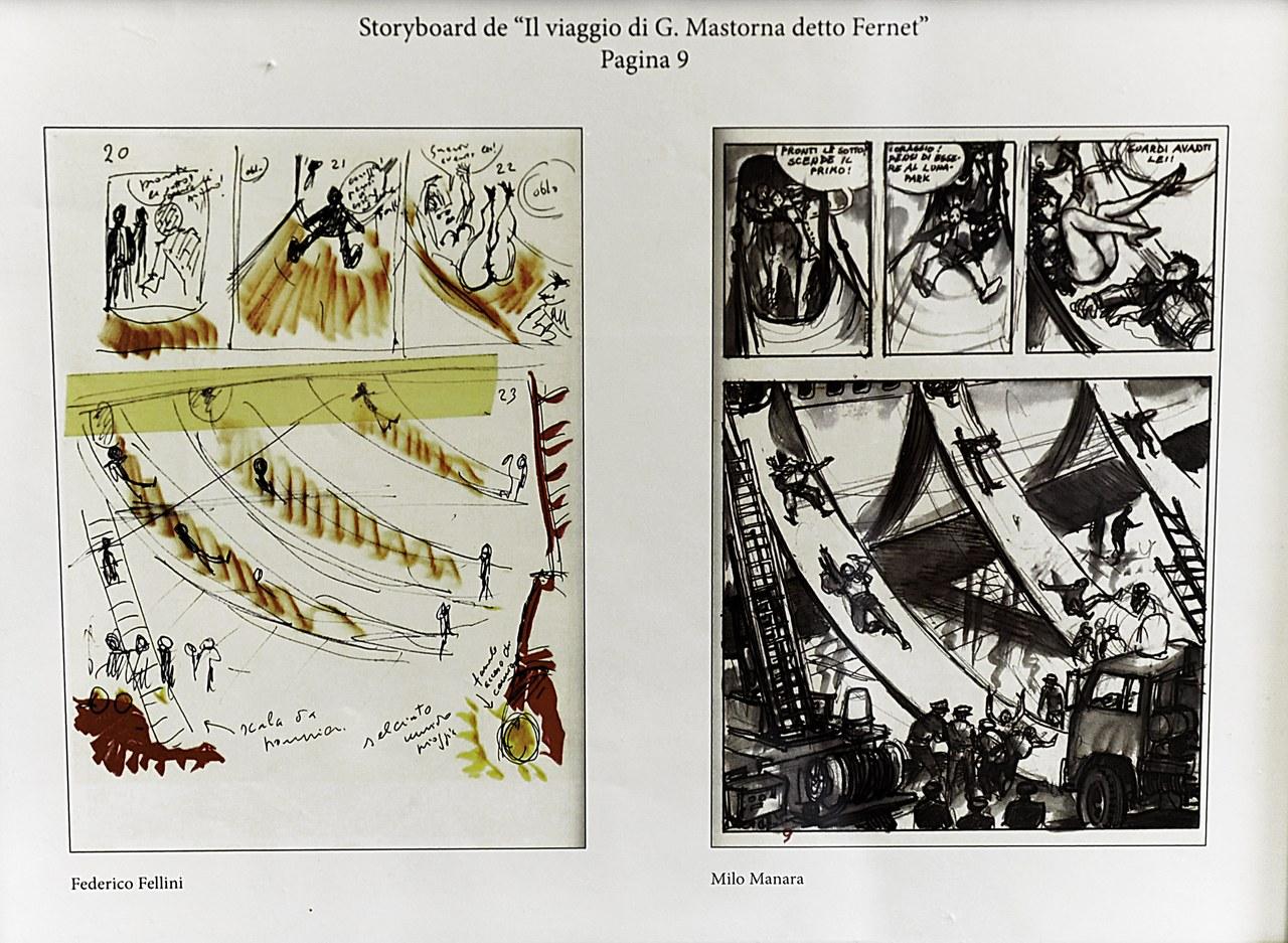 Il viaggio di G. Mastorna detto Fernet - Racconto di Federico Fellini china e ecoline, 1992 ©Salvo Grasso