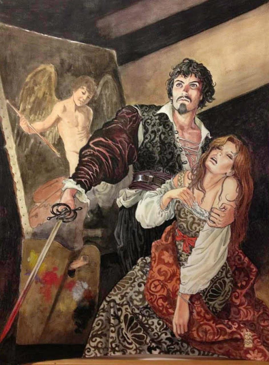 Caravaggio, Tavola inedita di prossima pubblicazione, china 2013©Salvo Grasso