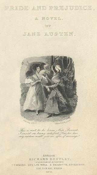 Fig. 4 Copertina della prima edizione illustrata di Pride and Prejudice, 1853