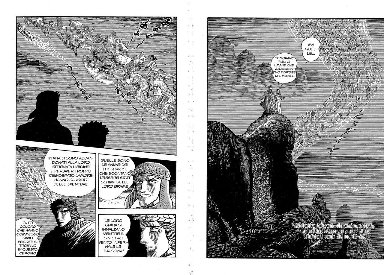 Go Nagai, Le anime dei lussuriosi, con evidente ripresa di Doré, 1994,vol. 1, tav. 86