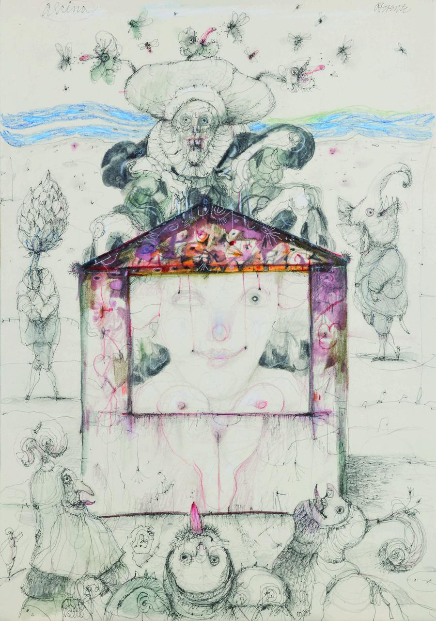 Antonio Possenti, La maga Alcina, 2016, Comune di Castelnuovo di Garfagnana