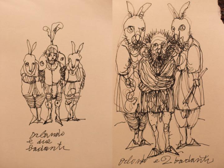 Antonio Possenti, Orlando e due badanti, 2016, collezione privata