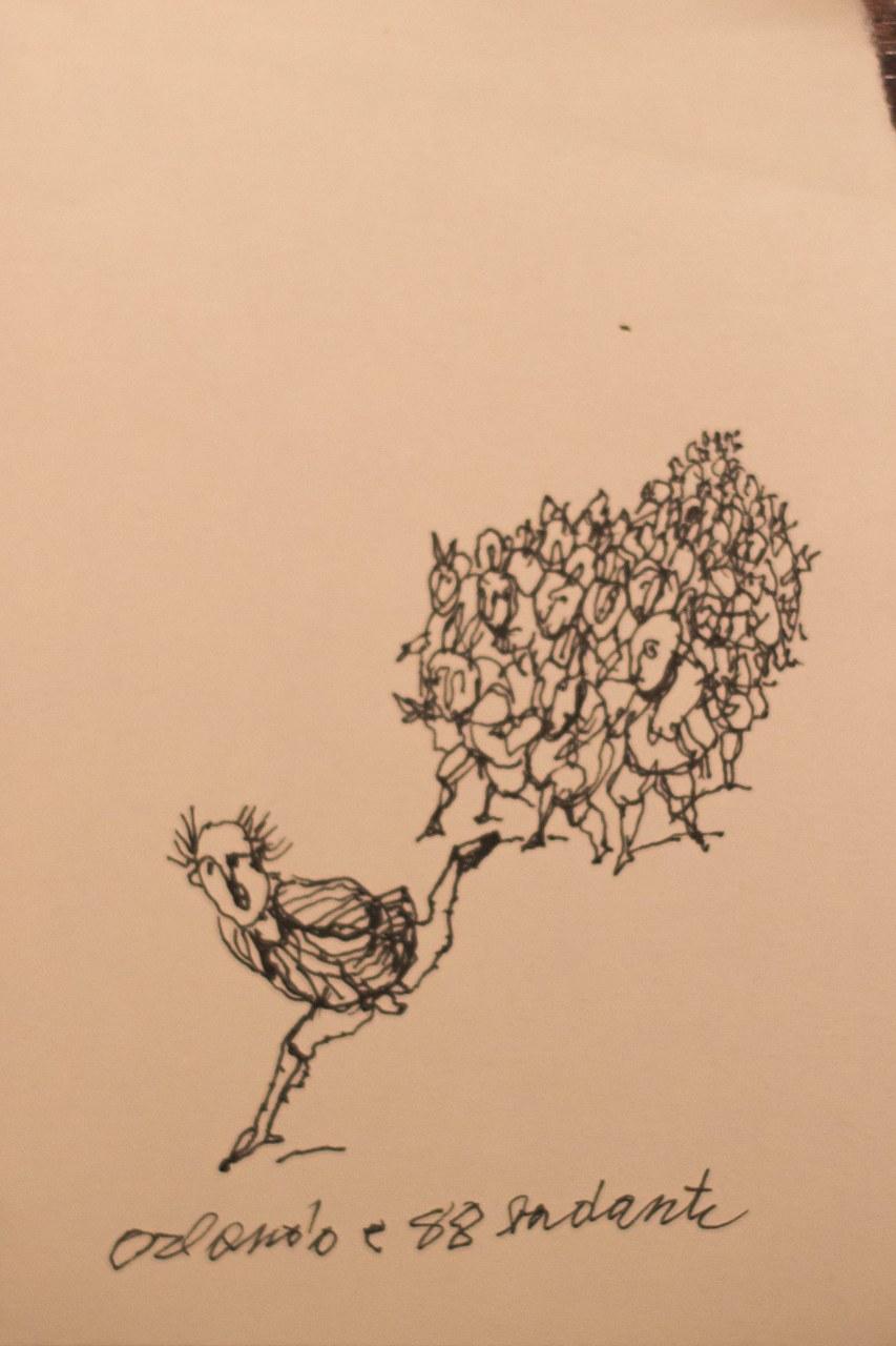 Antonio Possenti, Orlando e ottantotto badanti, 2016, collezione privata