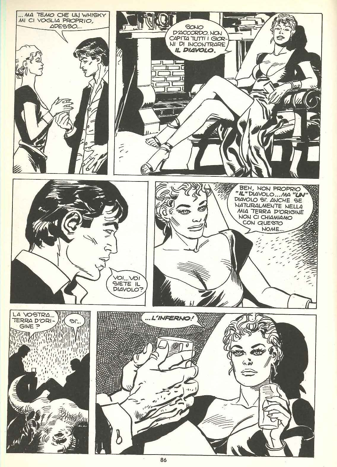 Gustavo Trigo, Dylan Dog #6, china su carta, 1987