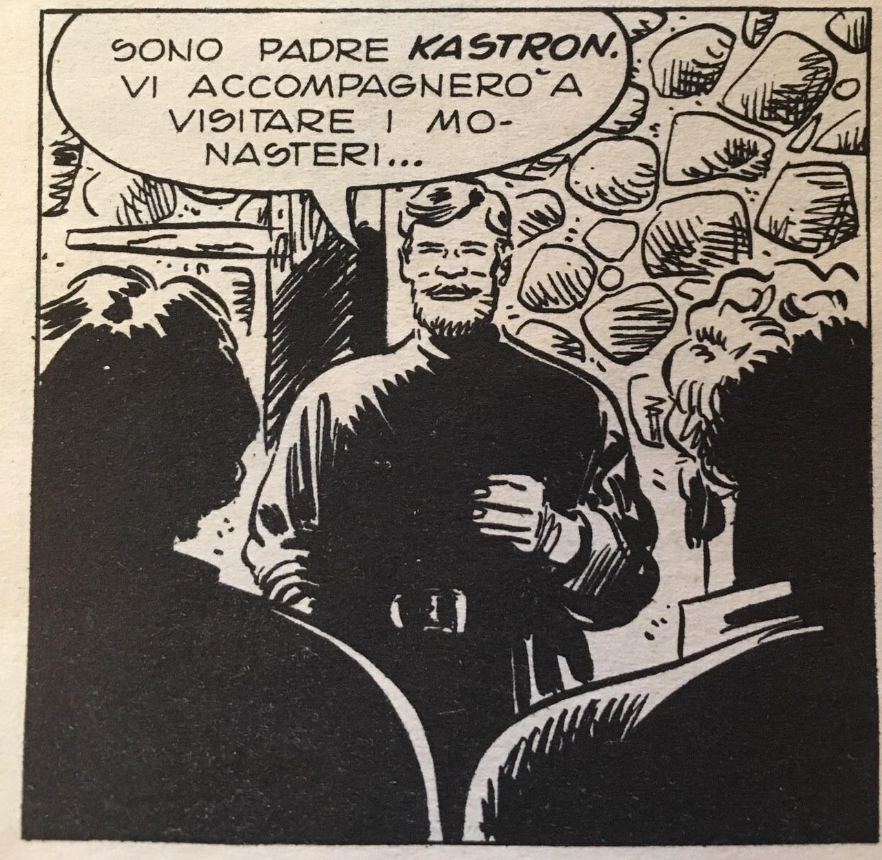 Padre Kastron, rappresentazione di Castelli