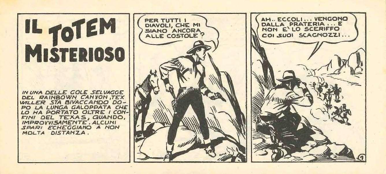 La prima apparizione di Tex