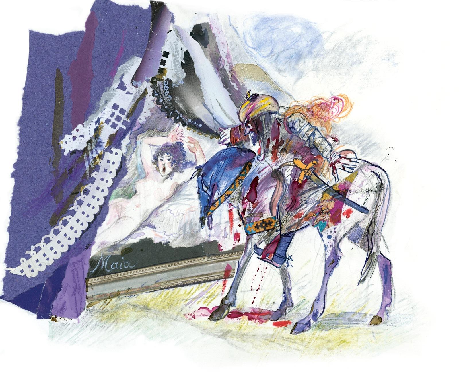 Grazia Nidasio, illustrazione per Orlando Furioso di Ludovico Ariosto, raccontato da Italo Calvino. © 2009 Arnoldo Mondadori Editore S.p.A., Milano, per le illustrazioni. Tutti i diritti riservati
