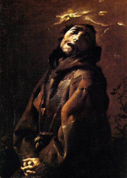 Francesco Cairo, San Francesco in estasi, olio su tela, 1630-1633c.
