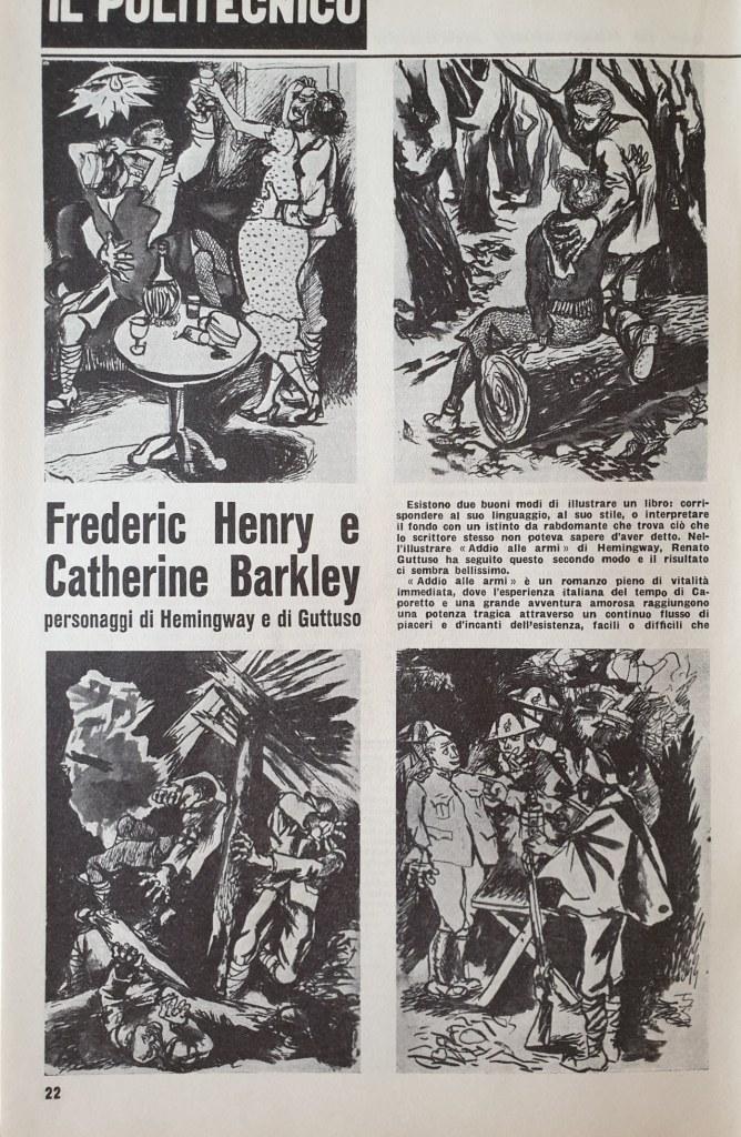 Fig. 1 Il Politecnico, 29, 1° maggio 1946, p. 22 (con illustrazioni di Renato Guttuso)