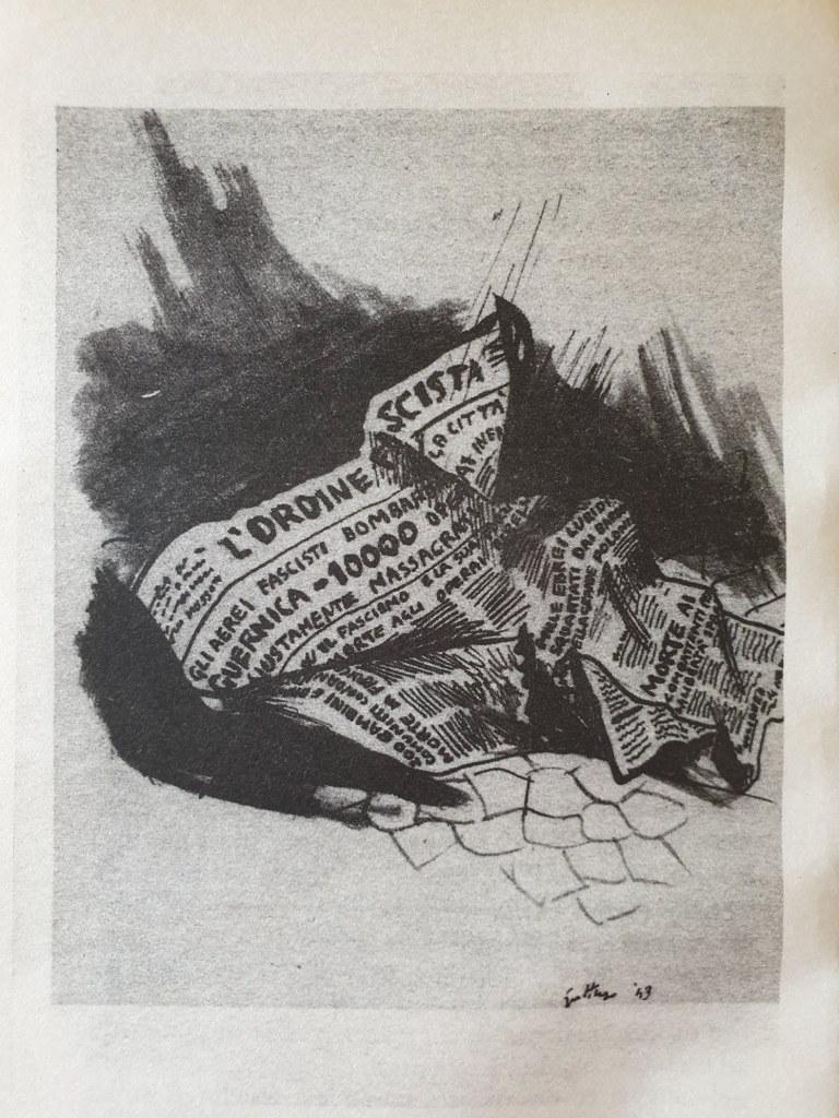 Fig. 3 Disegno di Renato Guttuso per Conversazione in Sicilia