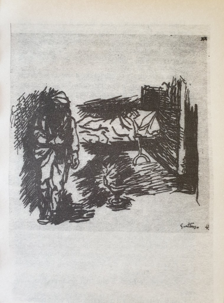 Fig. 4 Disegno di Renato Guttuso per Conversazione in Sicilia