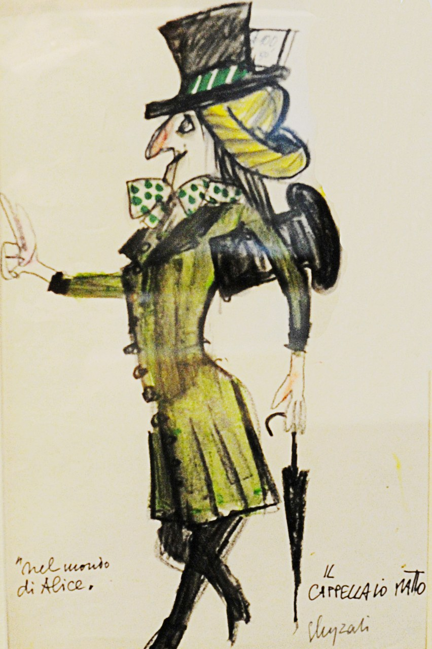 Illustrazione di Emanuele Luzzati per Alice nel Paese delle Meraviglie Nuages 1998