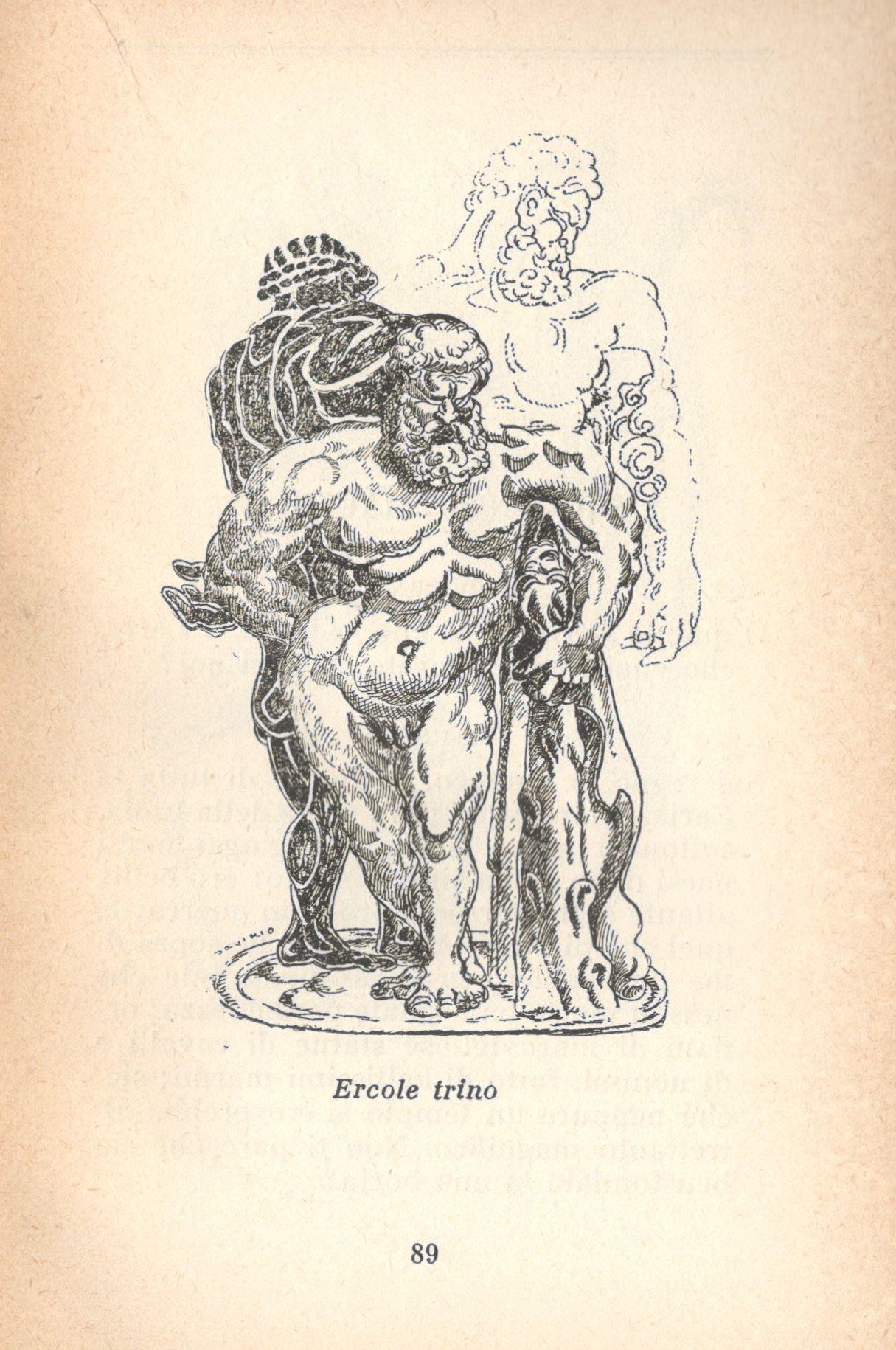 Fig. 3 Disegno di Alberto Savinio in Dialoghi e saggi di Luciano di Samosata (Bompiani, 1944)