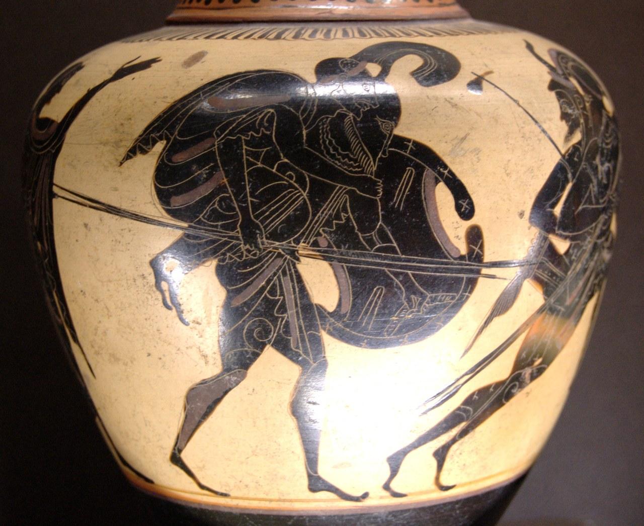 Oinochoe a figure nere (520-510 a.C.)