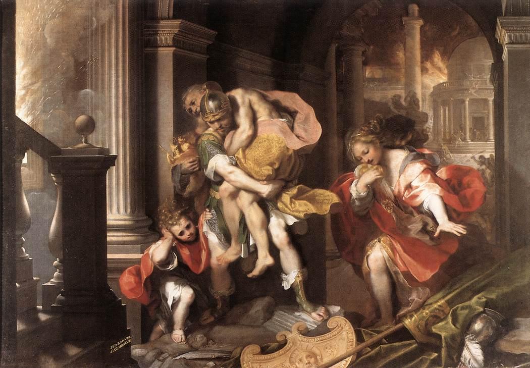 Fuga di Enea, Federico Barocci (1598)