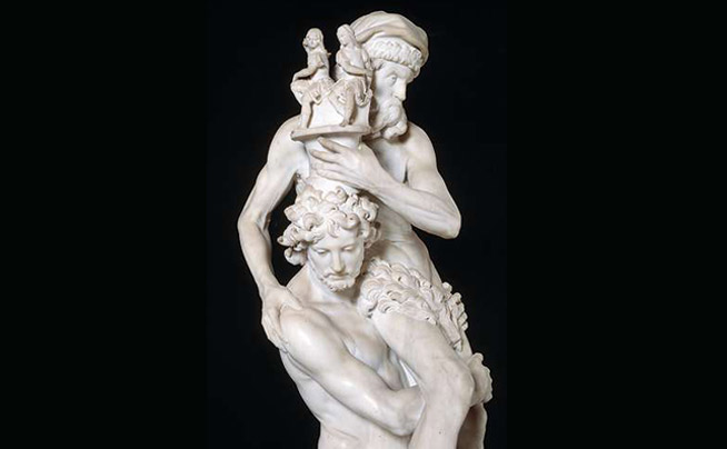 Enea, Anchise e Ascanio (particolare), Gian Lorenzo Bernini (1618-1619)
