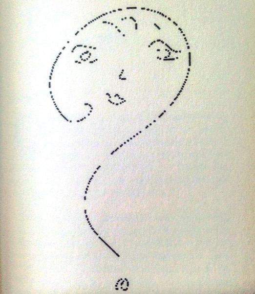 Fig. 4 Disegno di Monica Vitti, pubblicato in Il letto è una rosa, Milano, Mondadori, 1995