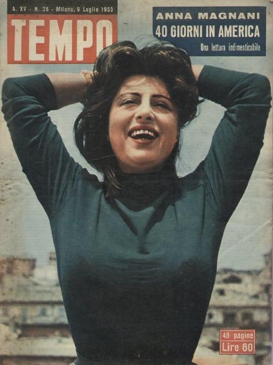 Fig. 3 Copertina di Tempo, con la testimonianza di Anna Magnani (Luglio 1953)