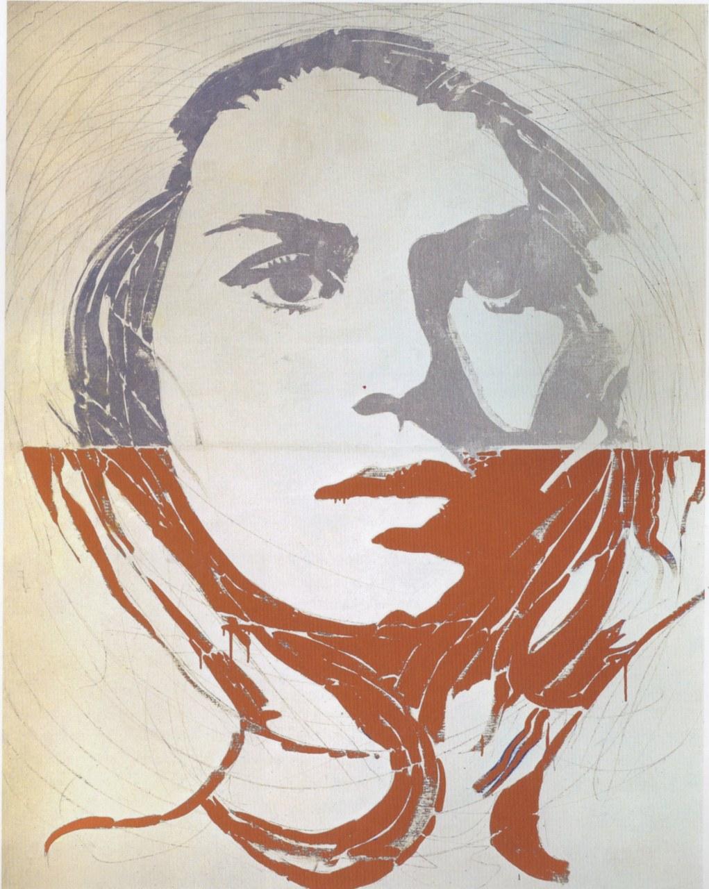 Giosetta Fioroni, Volto bicolore, 1966