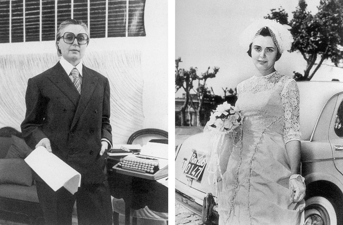 Tomaso Binga (Bianca Menna), Bianca Menna e Tomaso Binga oggi spose (1977) © Roberto Bossaglia
