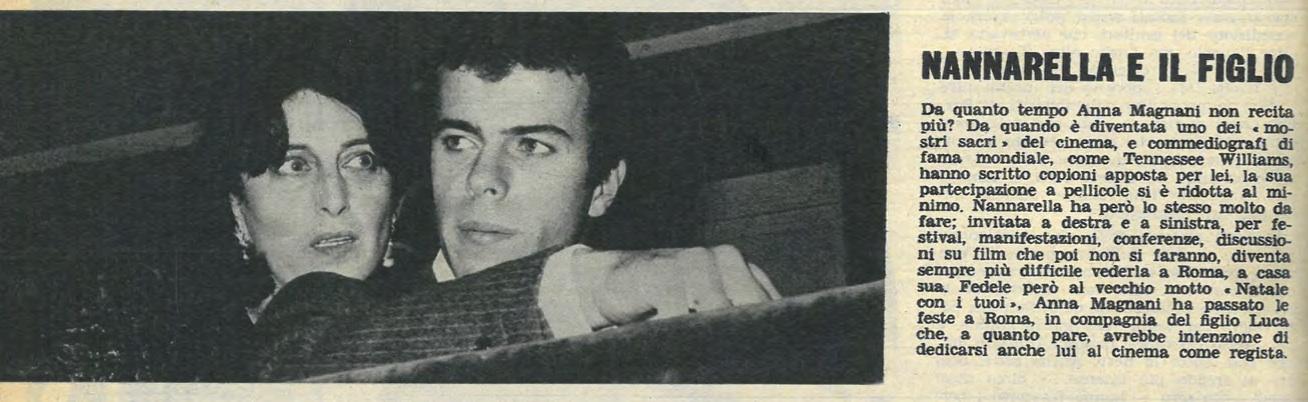 """«Nannarella e il figlio», articolo su Così, 1, 1, maggio 1964, consultato sul sito del progetto PRIN 2015 """"Comizi d'amore"""""""