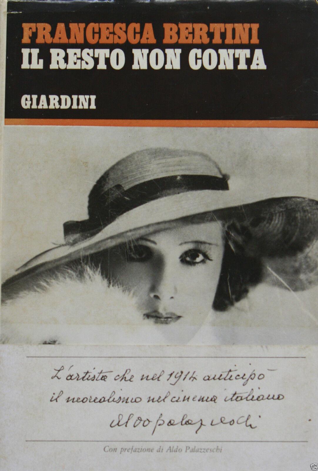 Fig. 6 Copertina del libro di Francesca Bertini, Il resto non conta, Pisa, Giardini, 1969