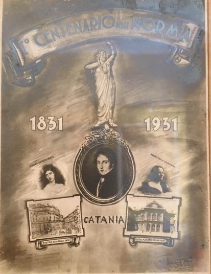 Una cartolina del centenario belliniano © Museo Bellini di Catania