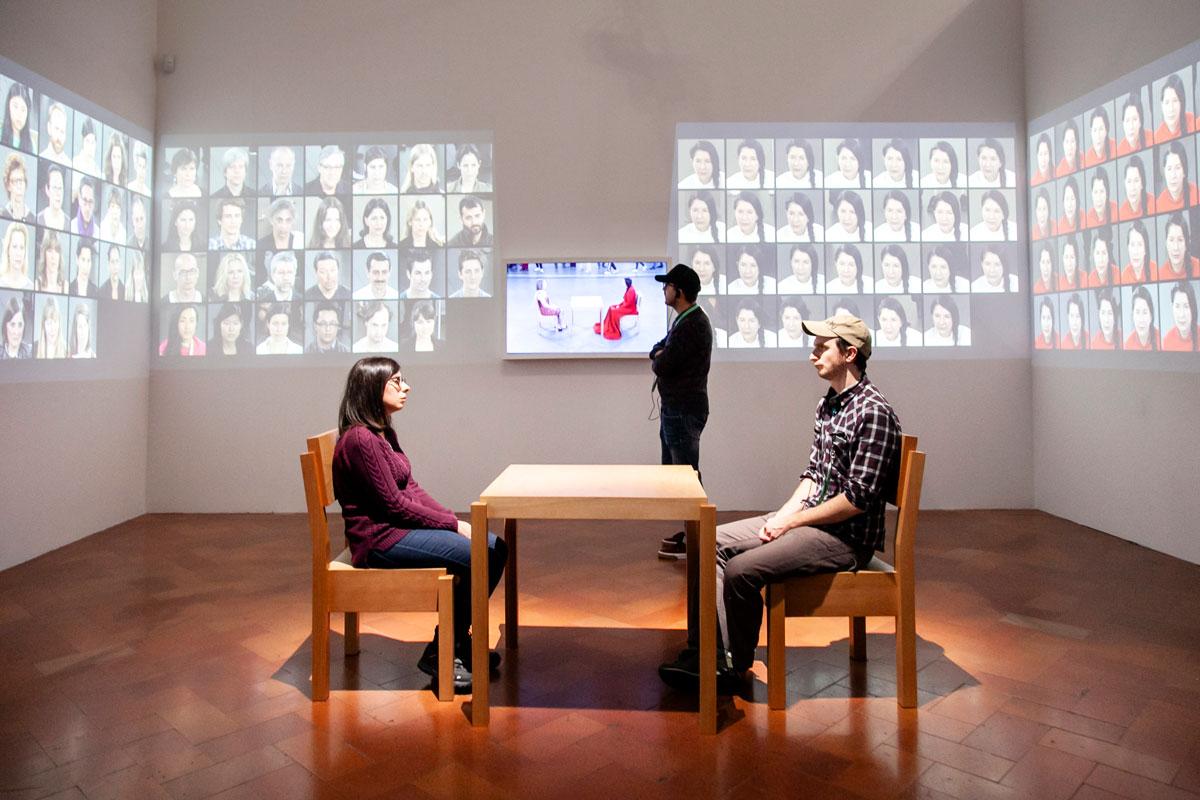 Una delle sale espositive della Mostra Marina Abramović, The Cleaner, Firenze, Palazzo Strozzi 21 settembre 2018-20 gennaio 2019