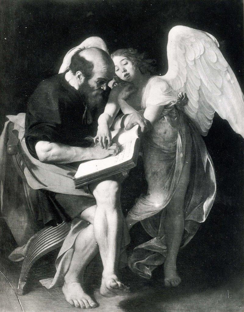 Michelangelo Merisi detto Caravaggio, San Matteo e l'angelo, 1602 (perduto)