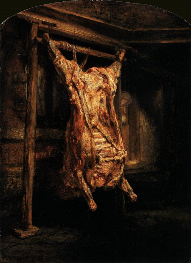 Rembrandt, De geslachte os (Bue macellato, 1655)